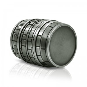 63MM/2.5 Inch Beer Barrel Shaped Grinder 4 Piece Zinc Alloy Herb Grinder