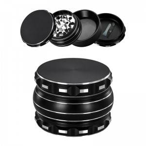 Top Suppliers 3 Piece Plastic Grinder - 58MM/2.3″ Herb Grinder 4 Piece Aluminum Alloy Black Spice Grinder – Hemgrinder