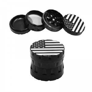 One of Hottest for 4 Part Herb Grinder - 63MM/2.5 Inch Herb Grinder 4 Piece Aluminum American Flag Grinder – Hemgrinder