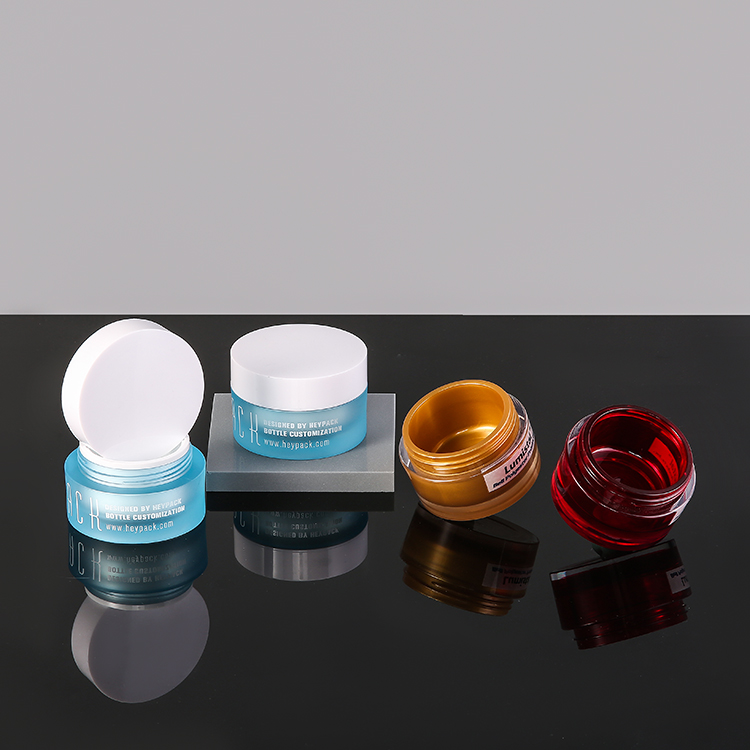 Looks like glass but New eco-friendly PET material 50g cosmetic cream jar but