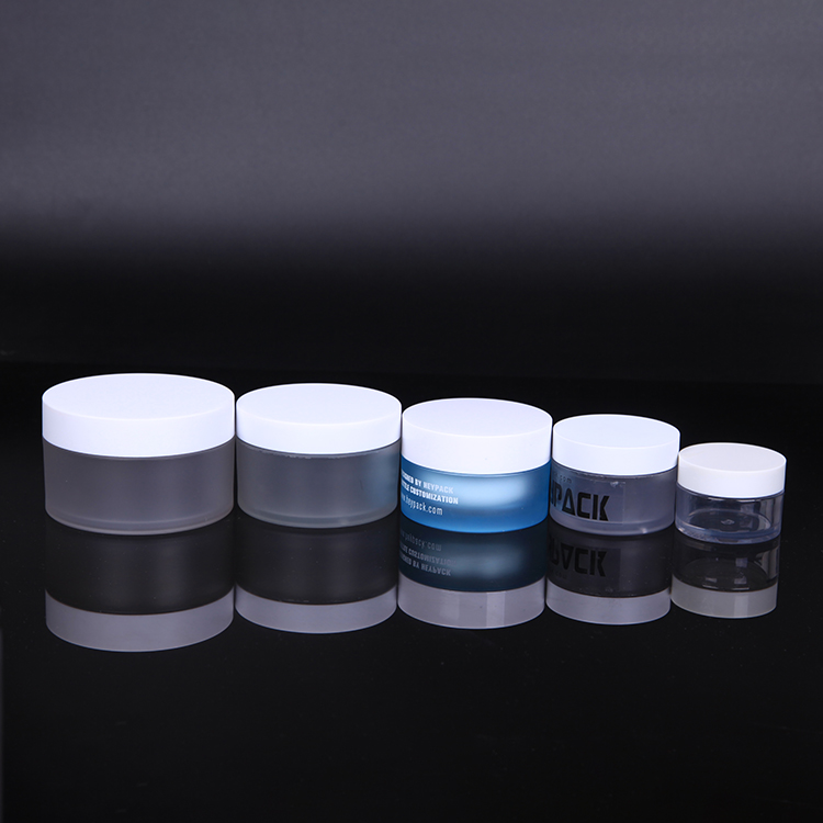 recycled PET plastic cosmetic jars for face cream jars container, 30ml 50ml 100ml 120ml day& night cream jar