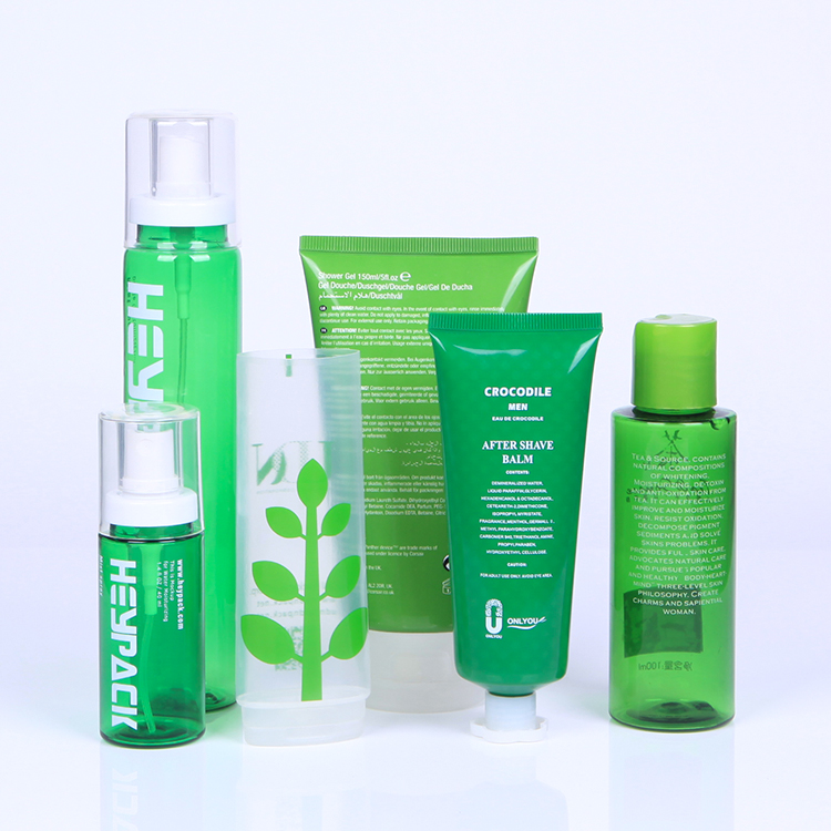 Eco-Friendly Most 100% PCR material Plastic Cosmetic Packaging Bottle and Tube