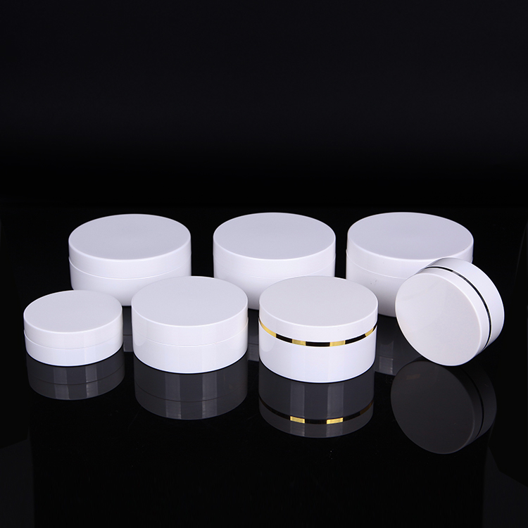 30ml 50ml 100ml 150ml 200ml 250ml 300ml Flat Custom-made body shop opal white cream jar