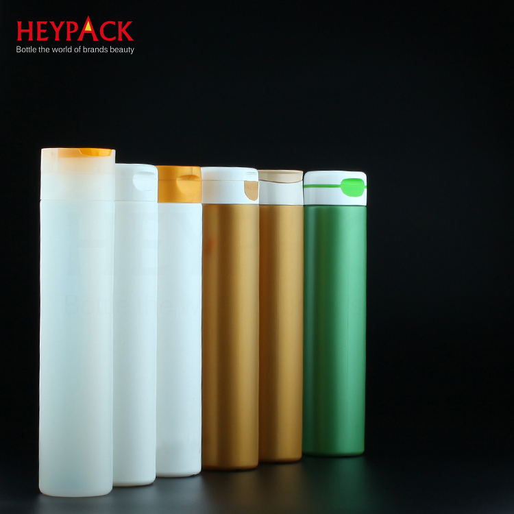 OEM Customized 8 Oz Plastic Jars - Cylindrical big disc cap shampoo bottle 300 ml – HEYPACK