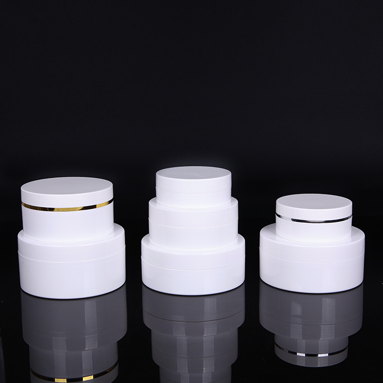 Flat top silver circle cosmetic jar 150ml  250ml 300ml 100ml 50ml 30ml