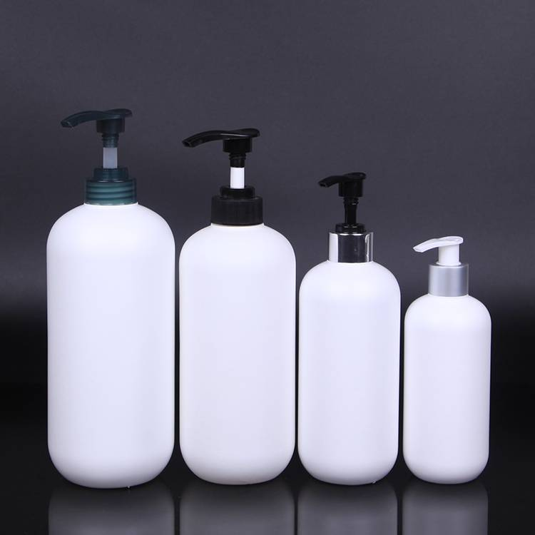 Boston Round Soft HDPE Plastic 350ml 500ml 750ml 1000ml Shampoo Bottle