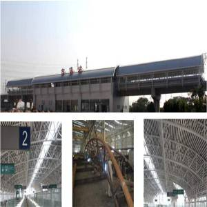 Prefabricated railway station steel structure