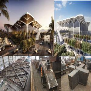 Prefab Steel Structure Building - Steel structure train station – Honghua