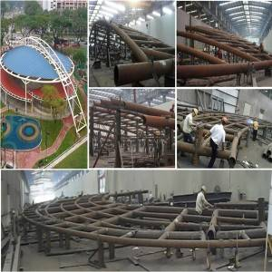 Steel Frame Curtain Wall - Pipe truss fabrication for steel curtain wall – Honghua