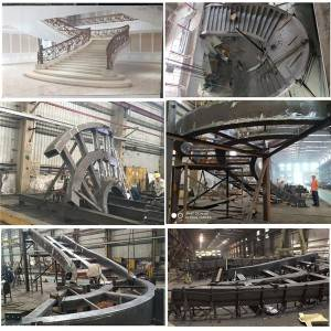 Factory Cheap Hot Iron Span Steel Buildings - Steel spiral staircase – Honghua