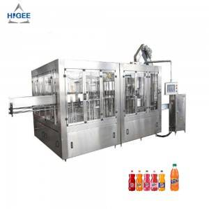 Carbonated soft drink filling machine line