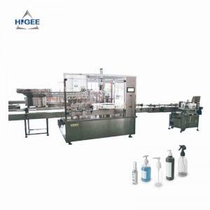 Automatic Hand Sanitizer Filling Machine Line