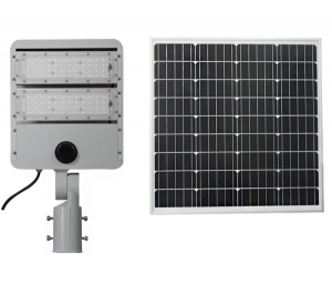 Smart Control 100w Philips3030 Solar Street Light Outdoor 30Ah LiFePO4 Battery For Park Fence Lighting