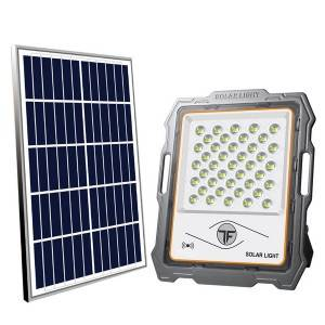 LED Solar Flood Light 12 Ah Battery Light Rador Sensor Mono Solar Panel 5V/15W Exterior Lighting