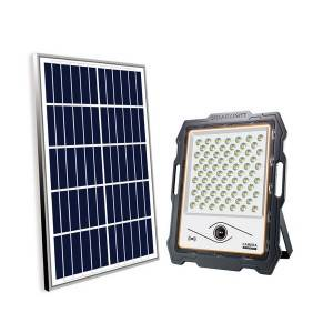 Portable Solar Powered Flood Light With Camera 1160lm Wifi Monitoring 24 Ah Battery Security Lights