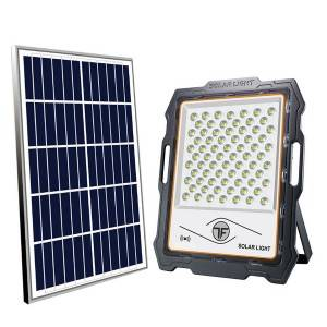 Remote Cotrol Solar Powered Flood Light Mono 5V/25W 18 Hours Discharge Time Smart Lighting