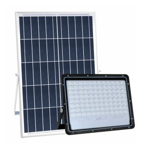 Industrial Remote Control Aluminum Solar Powered Flood Lights 200w 24 Ah Battery IP65 Exterior Lighting