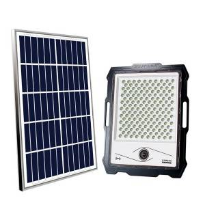 Solar Camera Floodlight 3000 Lm Rador Mode Cost Effective 42 Ah Rechargeable Battery LED Solar Flood Light