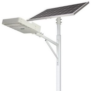Long Lifetime Outdoor Solar Street Light 80w LiFePO4 Battery 25Ah Light Sensor Energy Saving