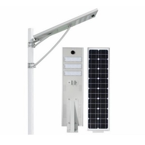 50w Solar Outdoor LED Street Light 5500lm Install 7 Meters For Sidewalk Roadway Lighting