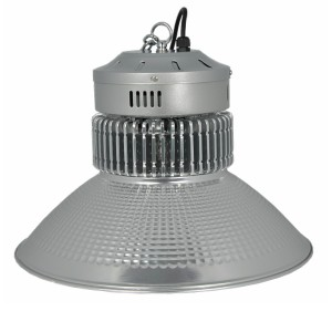 Industrial Round Led High Bay Light , Black Or Silver 200w Commercial Led High Bay fixture