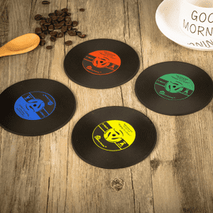 HH-0252 Promotional Record Coasters With Logo