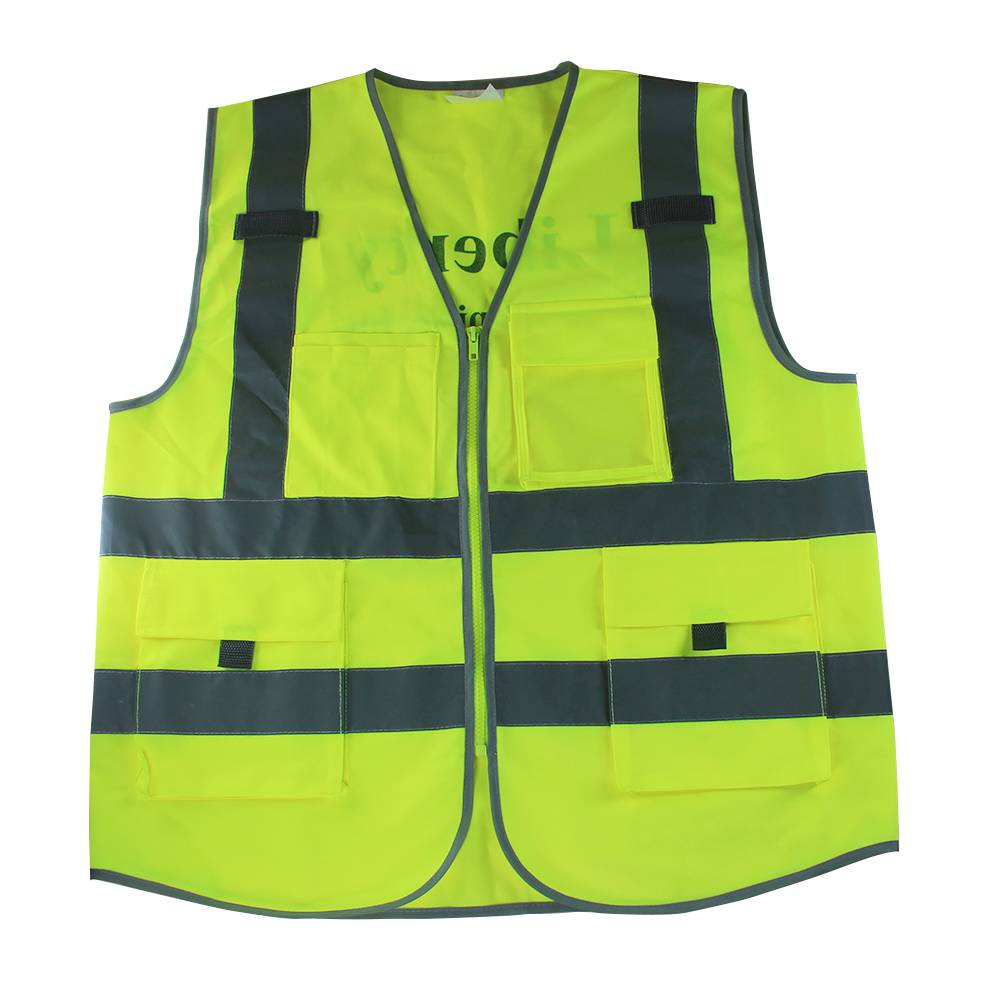Custom Reflective Vest with Pockets