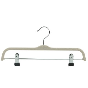 Factory Wholesale Silver Hook and Non-slip Clip Biodegradable Pants Rack