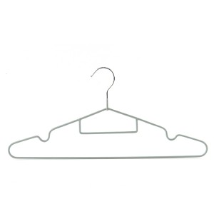China Wholesale Clothes Wire Hanger Factories –  Wholesale Metal Hangers Hot Sale PVC Coated Non-slip Hangers – Lipu