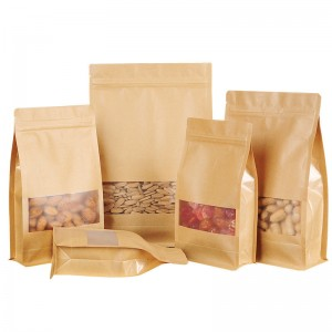 Special Price for Plastic Coffee Bags - Kraft Paper Flat bottom bag – Hong Bang