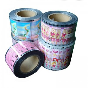 Custom Printed Plastic Poly Film Roll