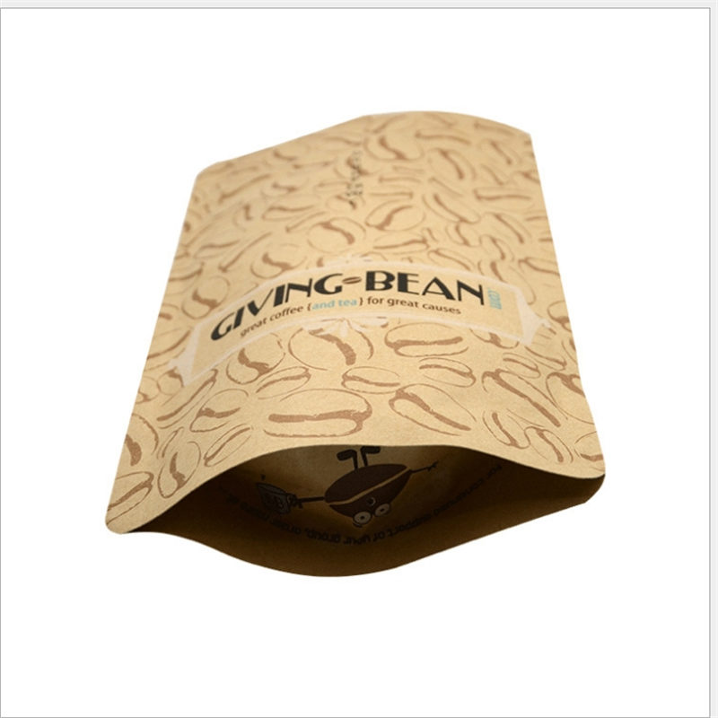 Cheap PriceList for Shaped Juice Bag - Kraft Paper bag for Coffee and Tea packaging – Hong Bang