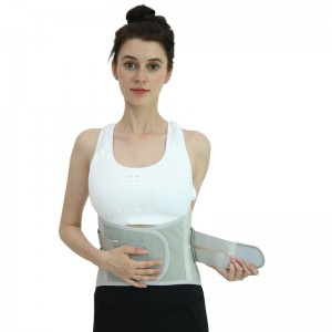 Lose Weight Sweat Waist Trimmer Belt Back Brace D36