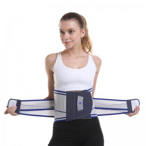 Lose Weight Sweat Waist Trimmer Belt Back Brace D23