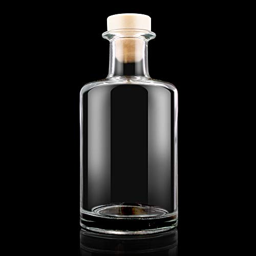 Special 240ml Clear Glass Diffuser Bottle with Cork Stopper Featured Image