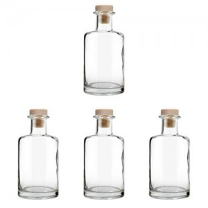 Special 240ml Clear Glass Diffuser Bottle with Cork Stopper