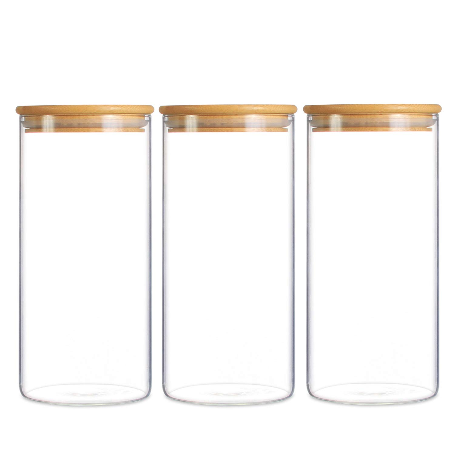 Good Quality Cosmetic Cream Jar - Straight Glass Storage Jar, Glass Food Jar with Bamboo Lid –  Hoyer