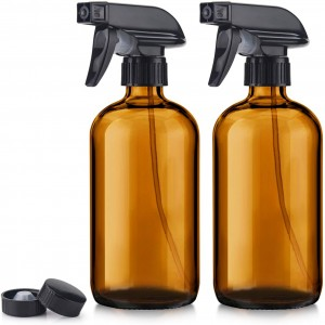 Wholesale Price Sola Flower Wholesale - 16oz 500ml Amber Glass Boston Bottle with Black Pump –  Hoyer