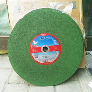 Aluminum abrasive cutting wheels for stainless steel