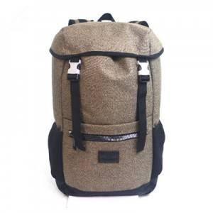 Cotton lien backpack with natural bag fabric ec...