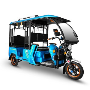 factory customized Three Wheel Electric Tricycle - Huaihai K21 half closed three wheel new engergy commerce taxi lead acid battery eletrical rickshaw passenger – Zongshen