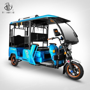 Huaihai K21 half closed three wheel new engergy commerce taxi lead acid battery eletrical rickshaw passenger