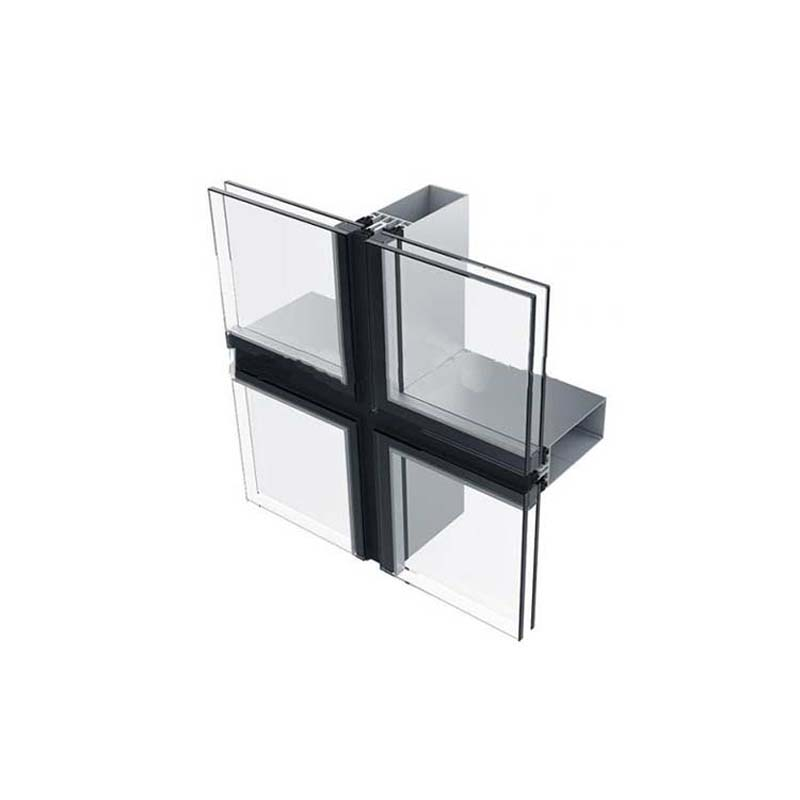Top Quality China Construction Material Glass Facade Frame Aluminum Profile Unitized Curtain Wall