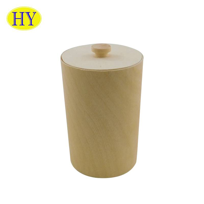2021 wholesale price Tool Box Wooden - Round birch veneer soft bark wooden packaging box for gift Bark Box – Huiyang