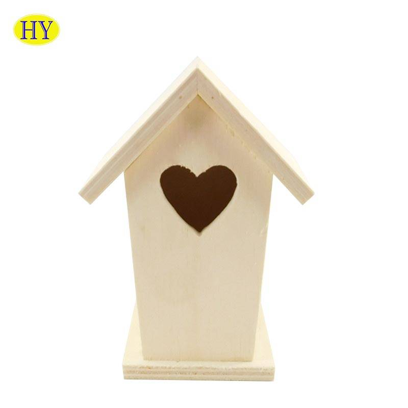 Wholesale Simple Cheap Unfinished Wooden Bird House