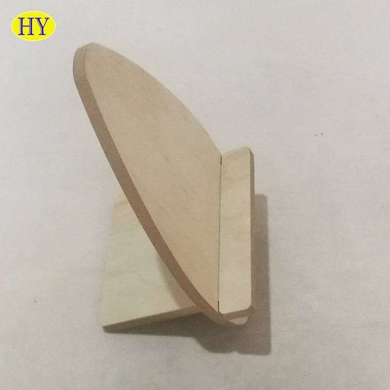 custom natural unfinished sodlid wood phone holder wholesale