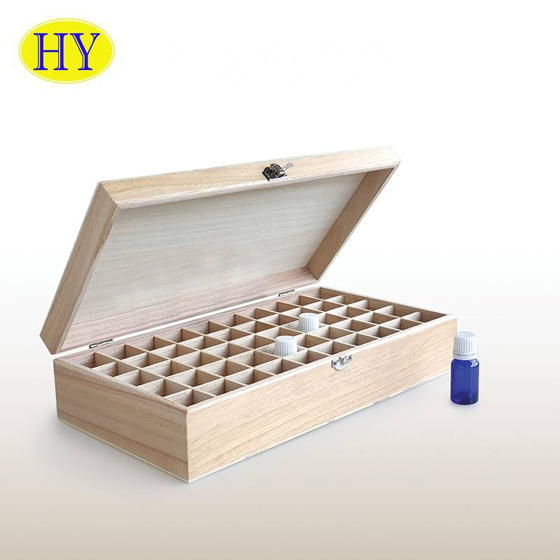2021 China New Design - 50 compartment aromatics wood box essential oils Bottles wooden box storage – Huiyang