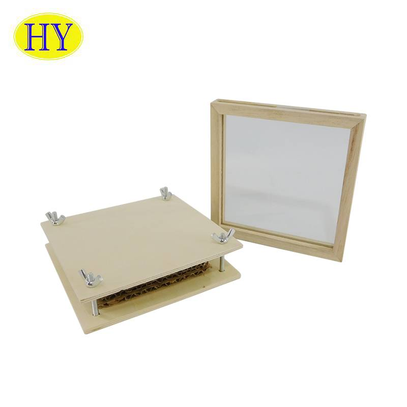 factory Outlets for Wooden Box With Dividers - Custom wooden flower press Nature Craft Learning Educational Toy for kid Gift – Huiyang