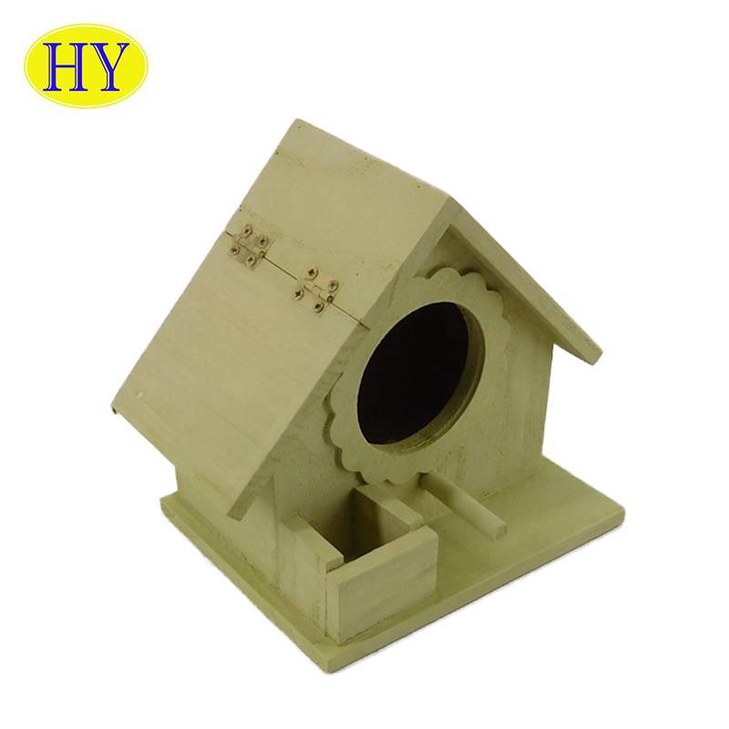 Wooden Handmade house Shape Bird House For Gift And Decorative