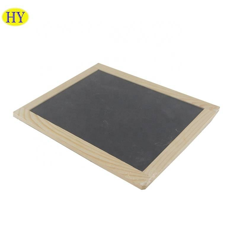 Unfinished blackboard wood stationery wooden tray wholesale